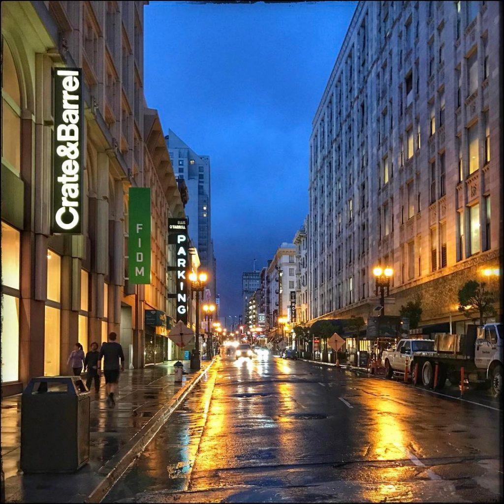 Near Union Square Rainy morning